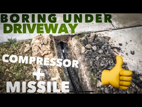 Boring Under 18foot Driveway with missile