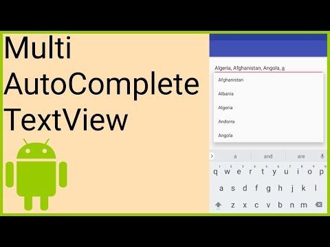 MultiAutoCompleteTextView - Android Studio Tutorial