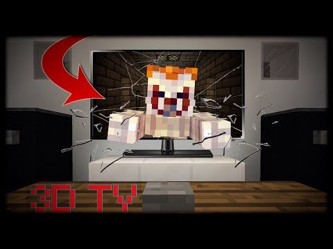 Minecraft PE | How to Make a Working 3D TV