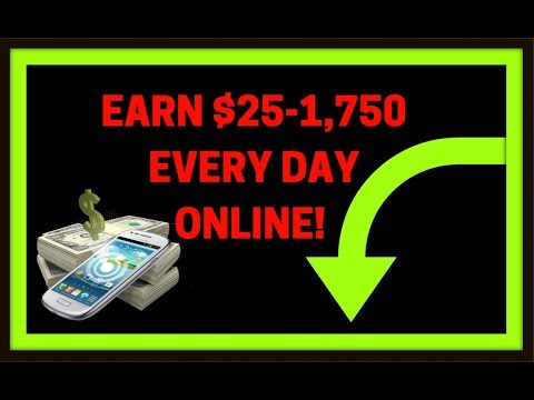 How to Make Money Online Fast! Make Money Working From Home Earn $25 - $1750 per Day