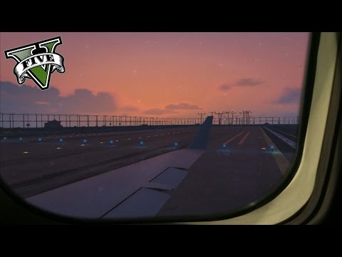 GTA 5 - CRJ-700 Military Private Flight Wing View HD