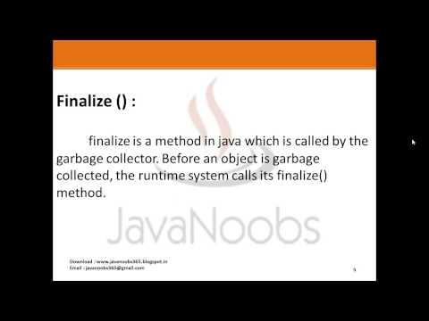 Java Basics Part 1 - Q 20)Difference Final Finally Finalize