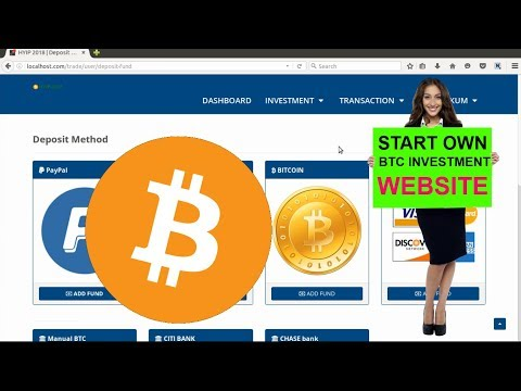 Bitcoin Investment WebSite Script 2018