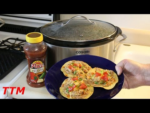 EASY Slow Cooker Salsa Chicken Thighs