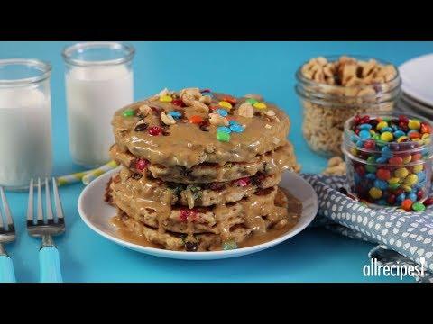 How to Make Monster Cookies Pancakes   Pancake Recipes   Allrecipes.com