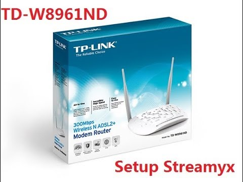 How to setup Streamyx on TP Link TD-W8961ND