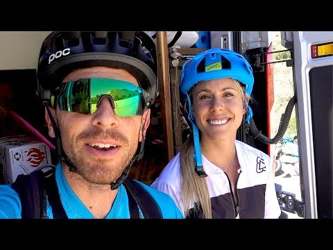 Riding Lauren Gregg's favorite trail   Mountain Biking Lower Rock Creek near Mammoth