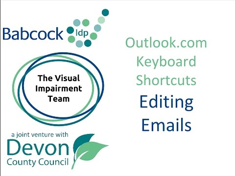 Outlook.com- 12 Keyboard Shortcuts for Editing Emails