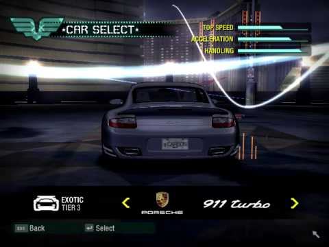 NFS Carbon all cars UNLOCKED!