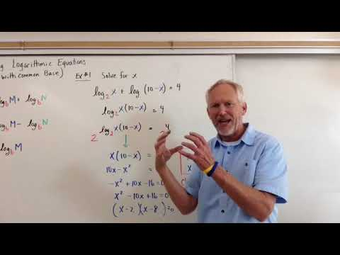 Solving Logarithmic Equations (With Common Base Method)
