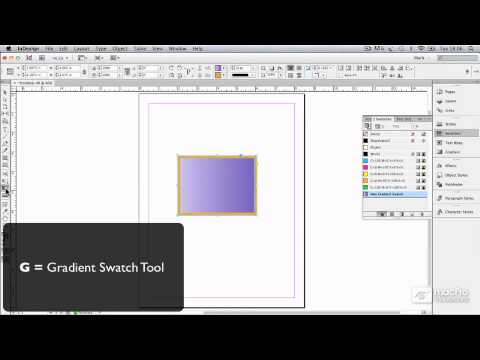 InDesign CS6 103: Working With Color - 4. Creating a Gradient