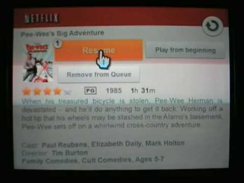 Netflix Streaming on the Wii