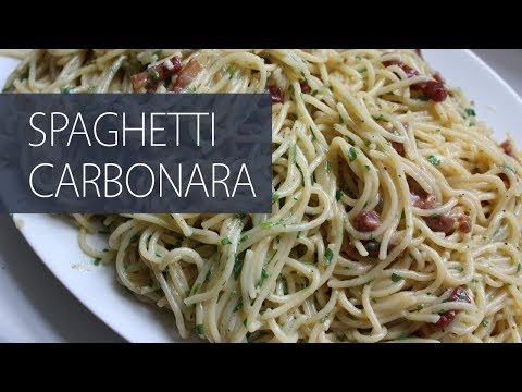 How to Make Spaghetti Carbonara (Rachael Ray Recipe)