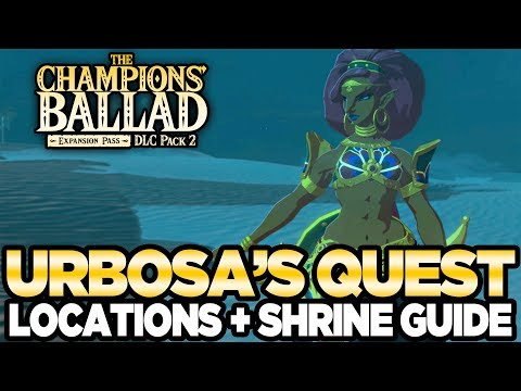 Urbosa's Song - Locations & Shrine Guide The Champions Ballad Breath of the Wild | Austin John Plays