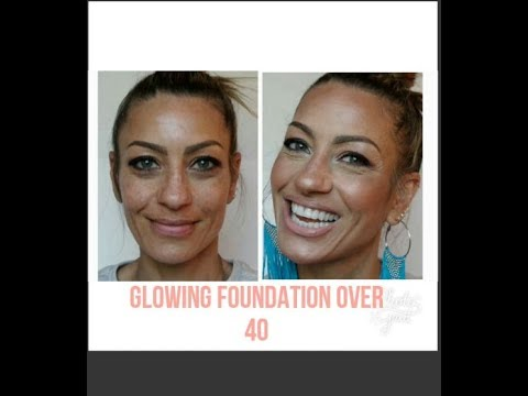Glowing highlighted Foundation and concealer for Mature skin over 40 !