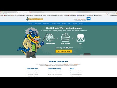 How To Make a WordPress Website (or Blog) with HostGator