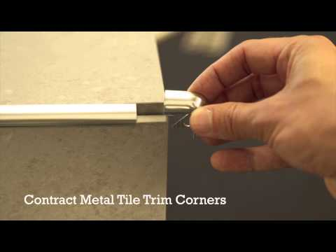 Pro Tile Trim Corners Plastic and Metal