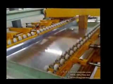 High speed aluminum cut to length line