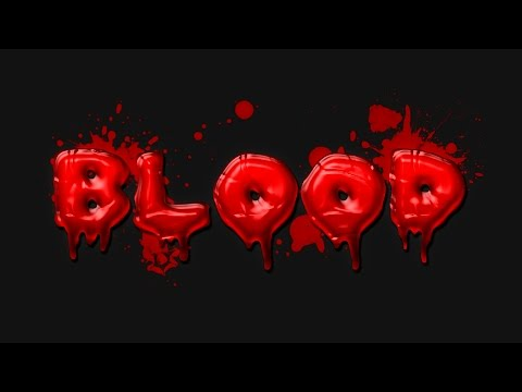 Blood Text Effect - Photoshop Tutorial