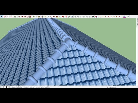 Draw Realistic  Hip Roof  with Sketchup