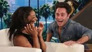 ELLEN SHOW SIMONE BILES Gets A SCARE! PROPER FUNNY SCARE For 4 TIMES OLYMPIC GOLD MEDALIST 17April_+