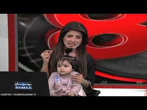 Xxx Mp4 TV Anchor Brings Young Daughter On Air To Protest Rape Killing Of Pakistani Girl 3gp Sex