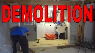 Removing A Non Load Bearing Wall-DIY Demolition