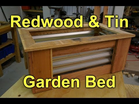 Corrugated Raised Garden Bed -  DIY Project