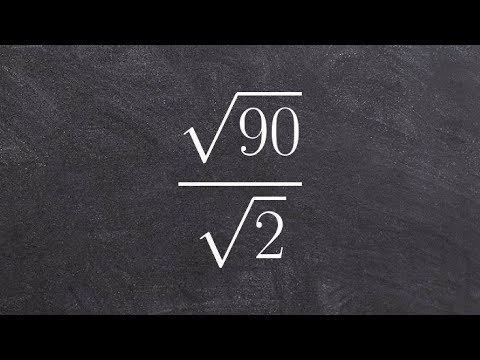 Tutorial - How to divide the square root of one number by square root of another, sqrt(90)/sqrt(2)