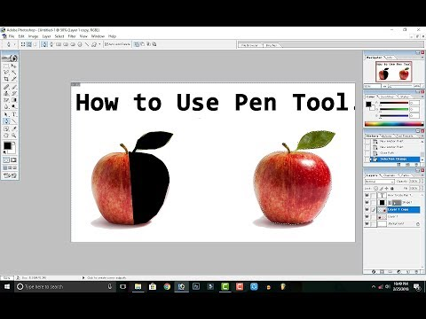 How to Use Pen tool in Photoshop in Hindi / Urdu.