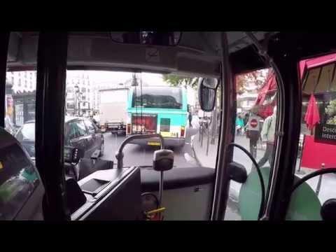 Take a bus to Eiffle Paris ฝึกนั่งรถบัสในกรุงปารีส