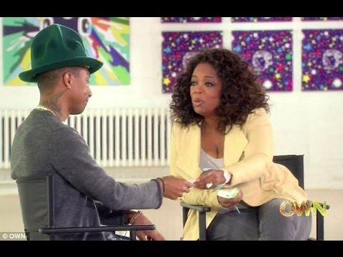 Pharrell's 'Happy' makes the artist cry on Oprah.