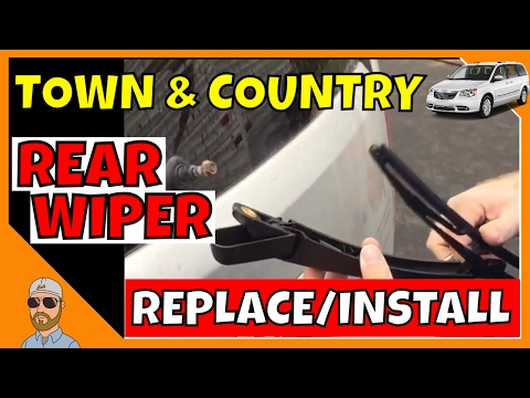 2009 Chrysler Town and Country Rear Wiper Replace and Install