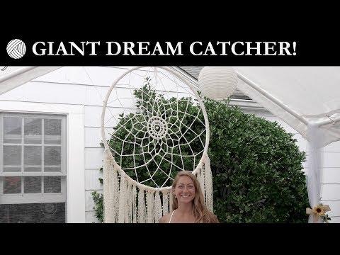 How To Make A Giant Crochet Wedding Dreamcatcher