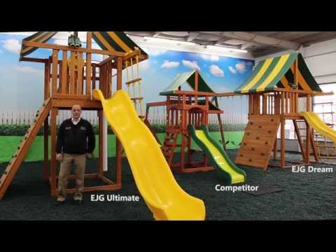 Wooden Swing Sets & Playsets by Eastern Jungle Gym