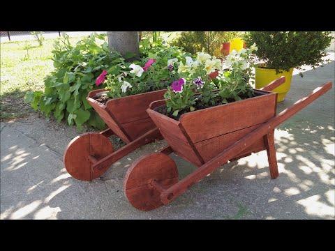 How to make a wooden wheelbarrows