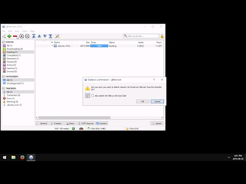 qBittorrent: How to Stop Seeding a File