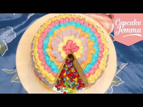 How to Make a Piñata Cake! | Cupcake Jemma