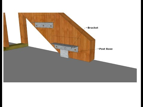 How To Use Standoff Post Base Hardware To Make Exterior Stair Stringers Last Longer