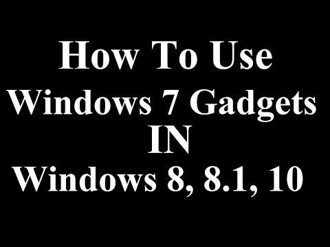 Use windows 7 gadgets in windows 8, 8.1, 10