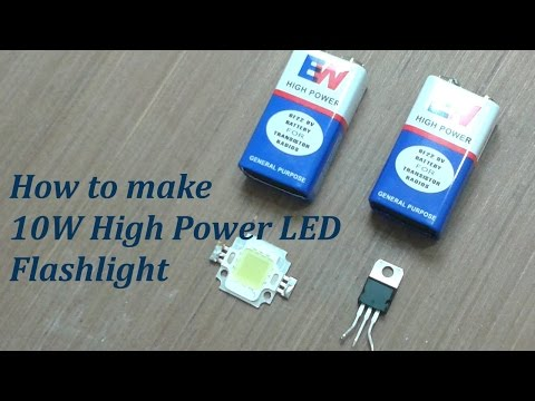 Awesome idea of 9 volt battery - how to make a torch