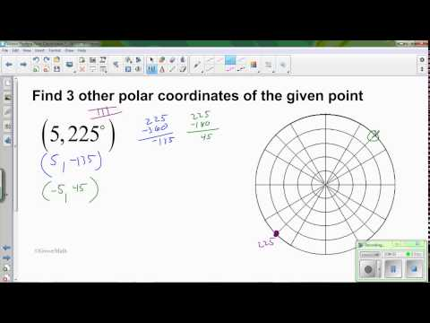 V2 Other ways to represent a polar coordinate
