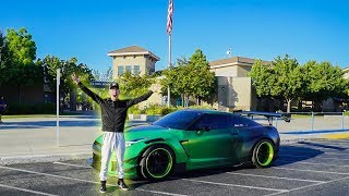 DRIVING MY 1000HP GTR TO FIRST DAY OF HIGH SCHOOL!
