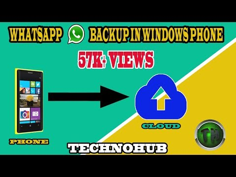 How to take whatsapp backup in windows phone