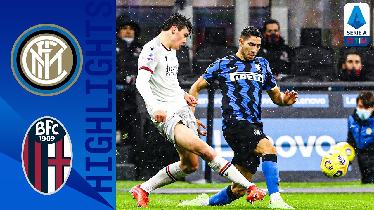 Inter 3-1 Bologna | Hakimi brace guides Inter past Bologna | Serie A TIM