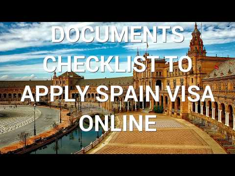 How to Apply Spain Visa Online   Documents Checklist for Spain Visa   Schengen Visa Requirements