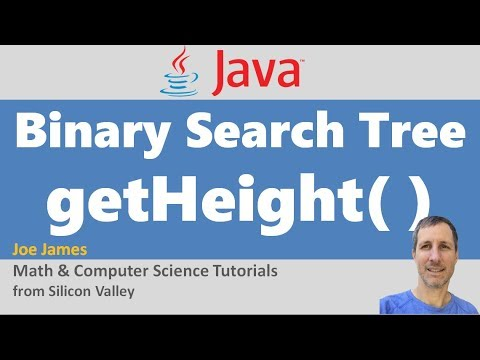 Java: Get Height of a Binary Search Tree (BST)
