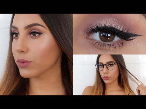 Mauve Glam Makeup For Glasses + Firmoo Review