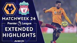 Wolves v. Liverpool | PREMIER LEAGUE HIGHLIGHTS | 1/23/2020 | NBC Sports