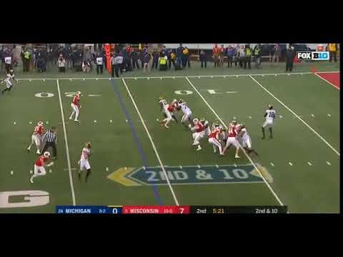 Brandon Peters to Donovan Peoples-Jones vs Wisconsin